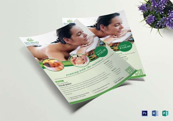 spa beauty flyer template1