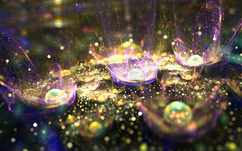Splashing Glitter Wallpaper
