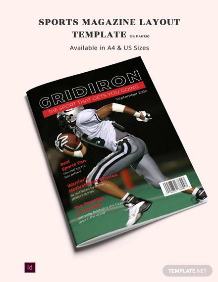 sports magazine layout template