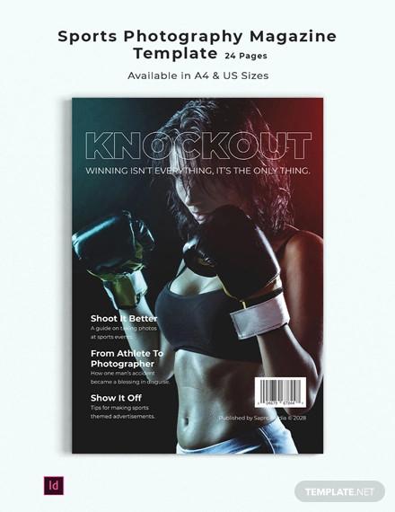 sports photography magazine template