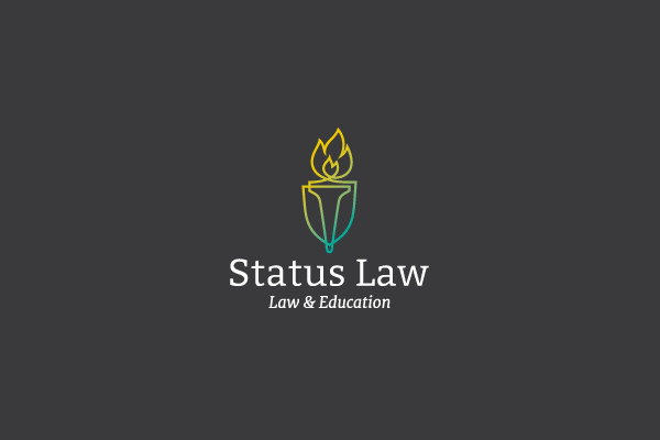 Status Law Torch Logo Design