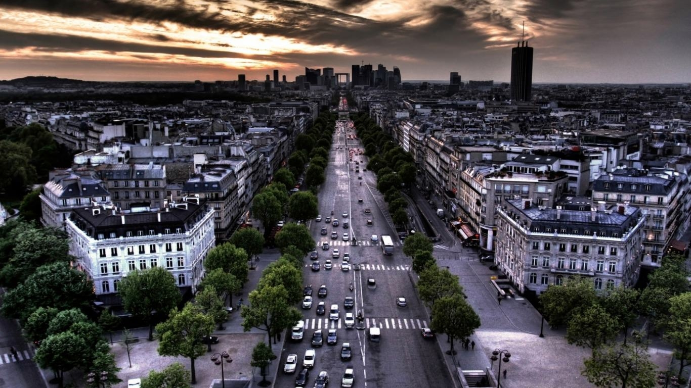 Streets of Paris Background
