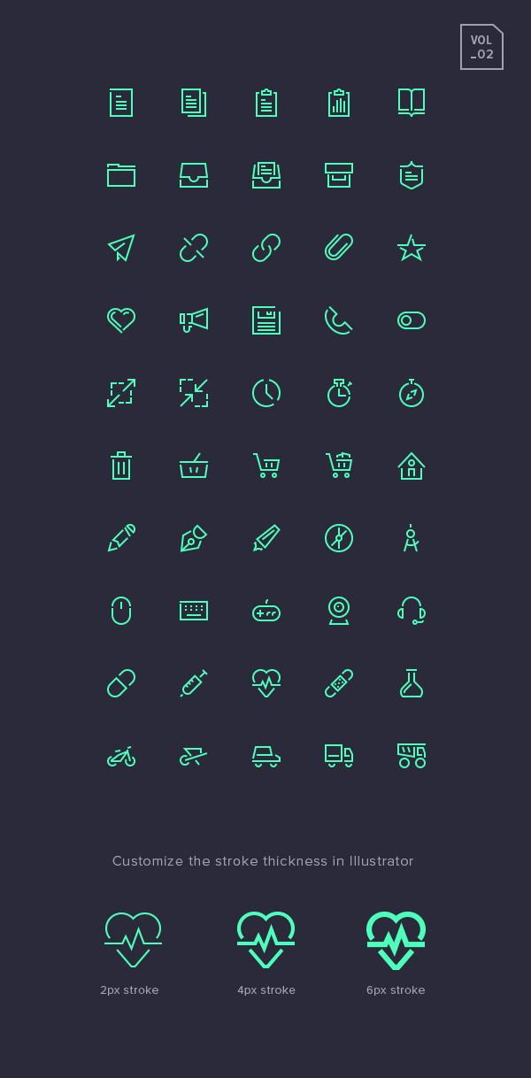Stroke Gap Icons Set Vol.2