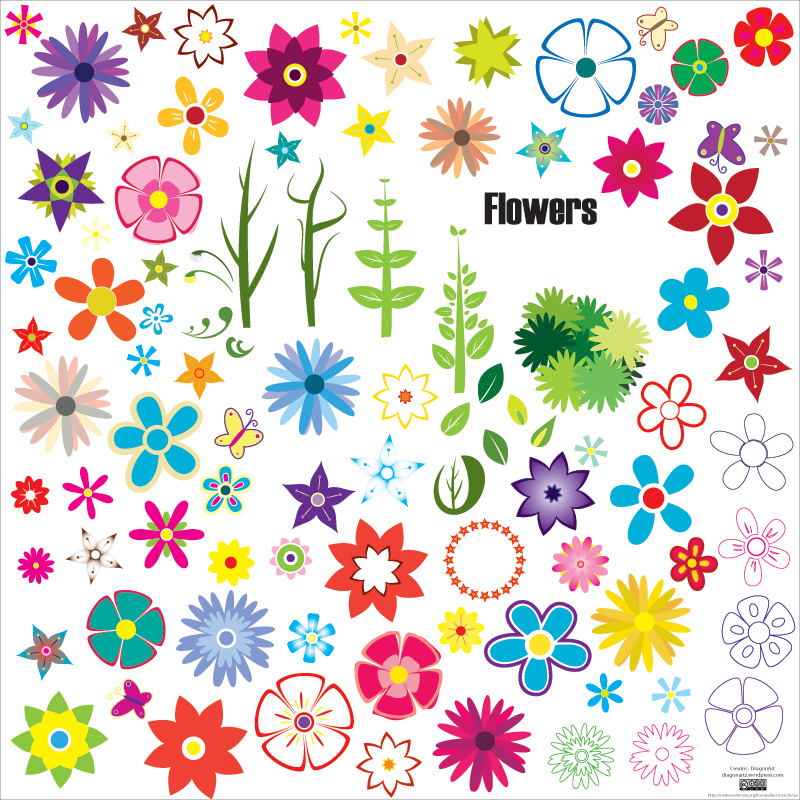 Stylish Flower Vectors