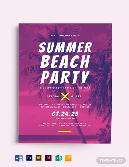summer beach flyer template1