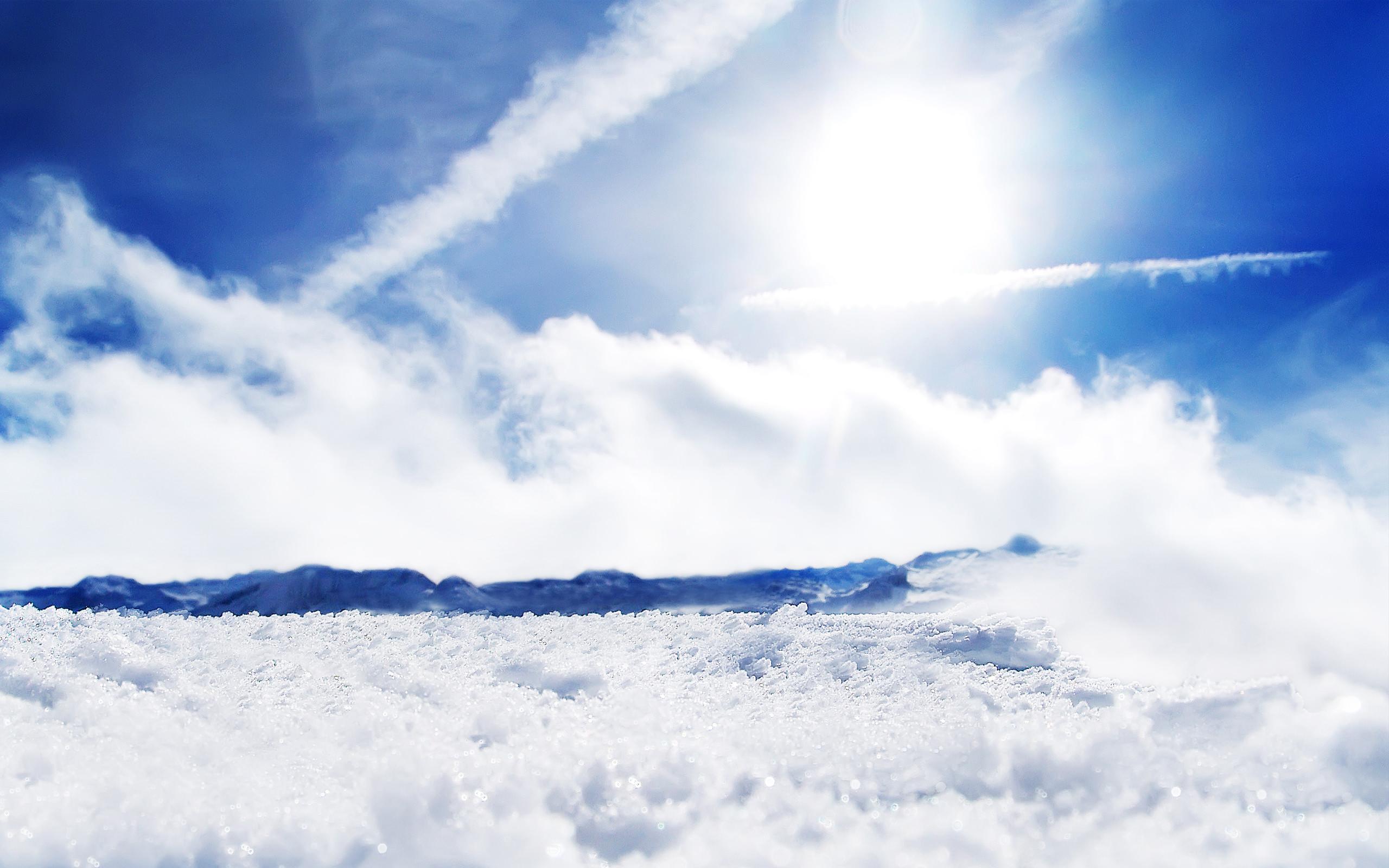 Sunny Snow Wallpaper