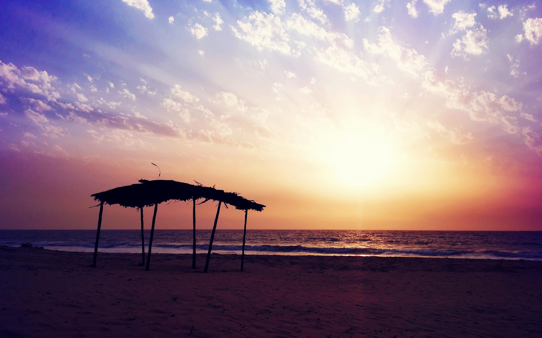Sunset Beach High Quality Background