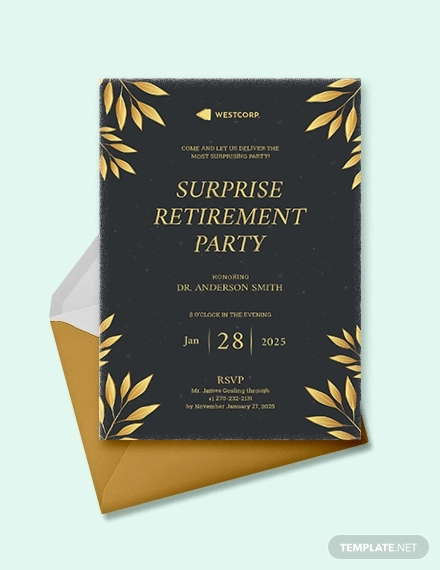 It is a picture of Printable Retirement Invitation for garden invitation