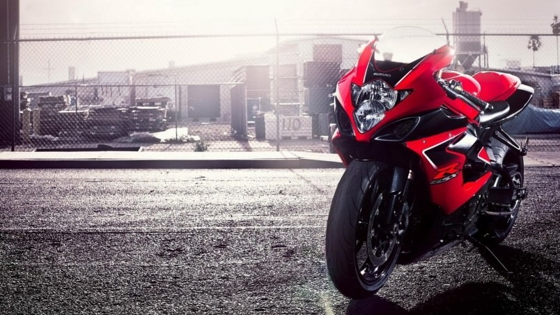Suzuki Red Motorcycle Wallpaper