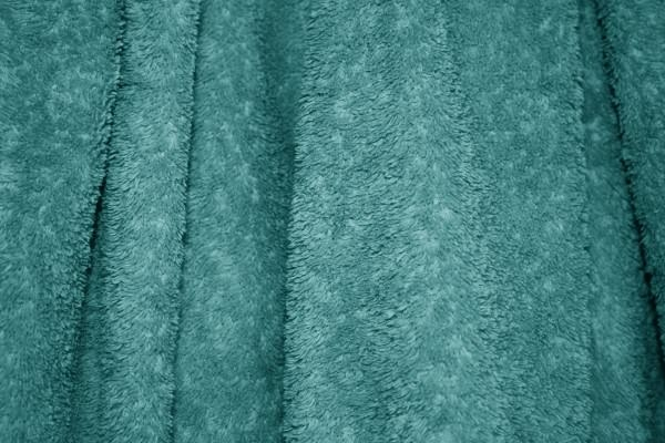 Teal Terry Cloth Bath Towel Texture Background