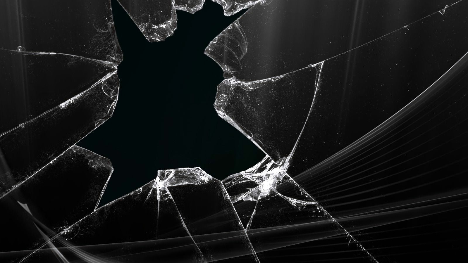 Technology Cracked Screen Wallpaper
