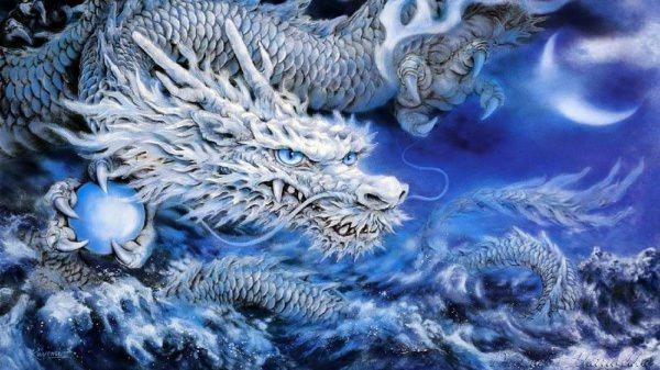 Terrific Crystal DragonlWallpaper