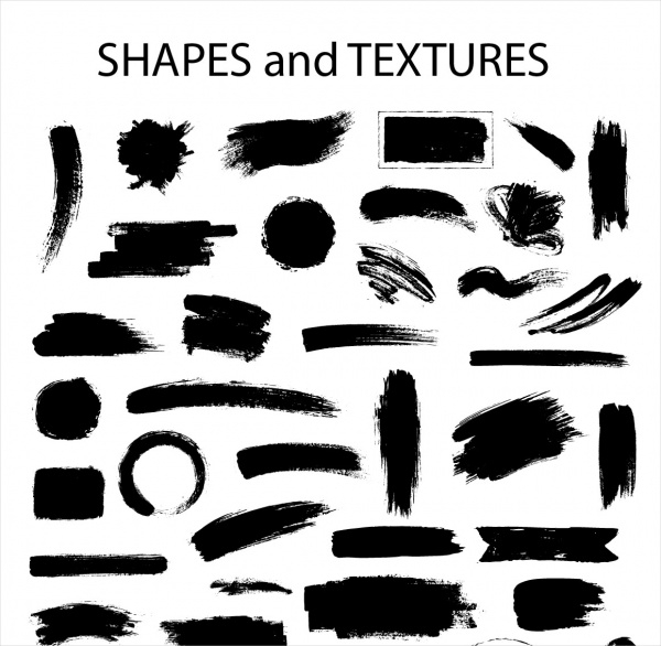 Textures Shape Stroke Brushes