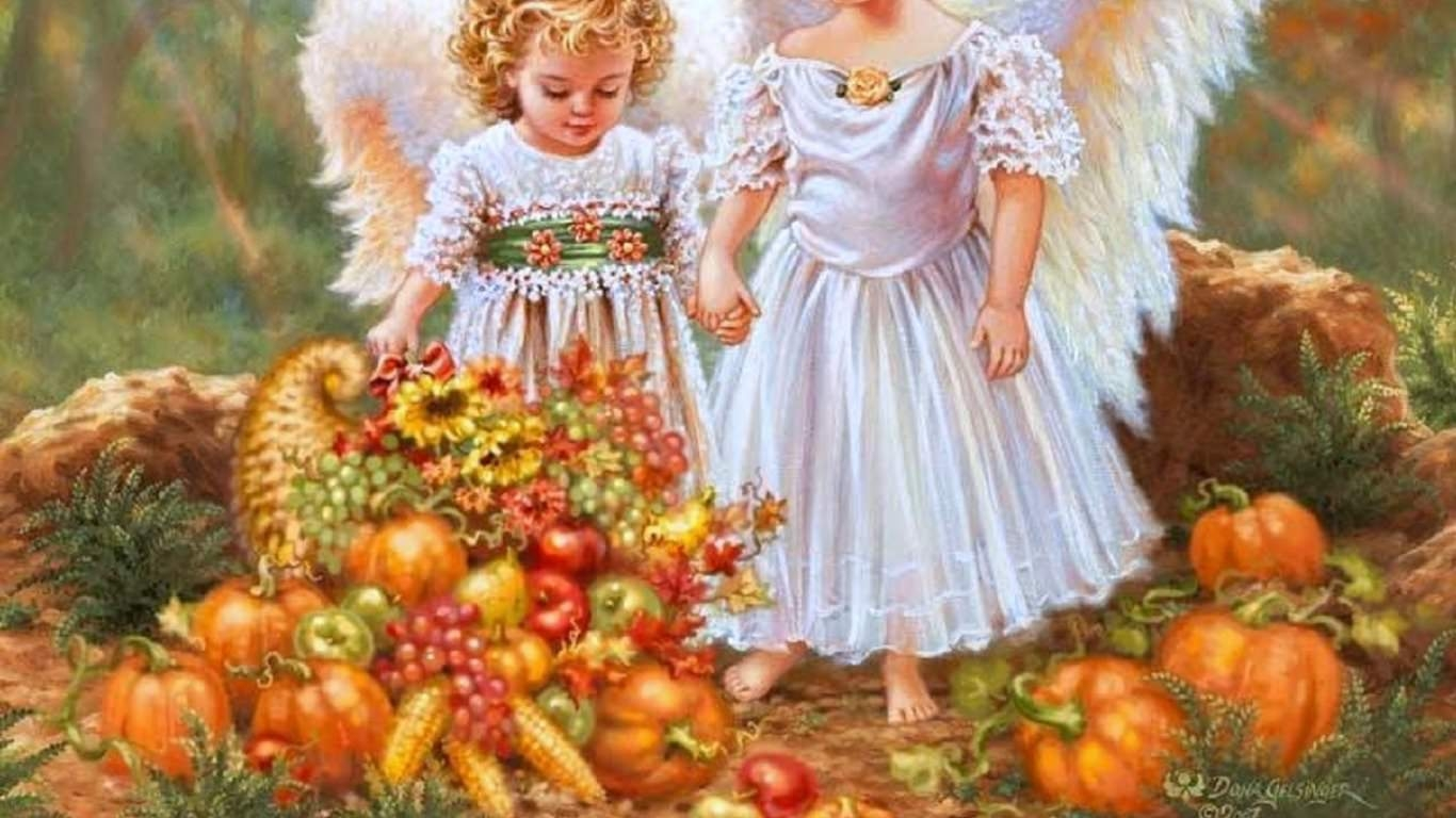 Thanksgiving AngelsWallpaper