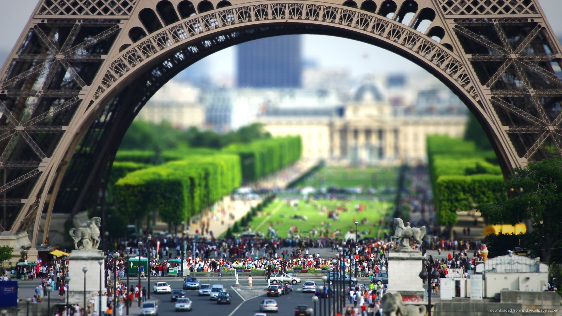 Tilt Shift Eiffel Tower Wallpaper