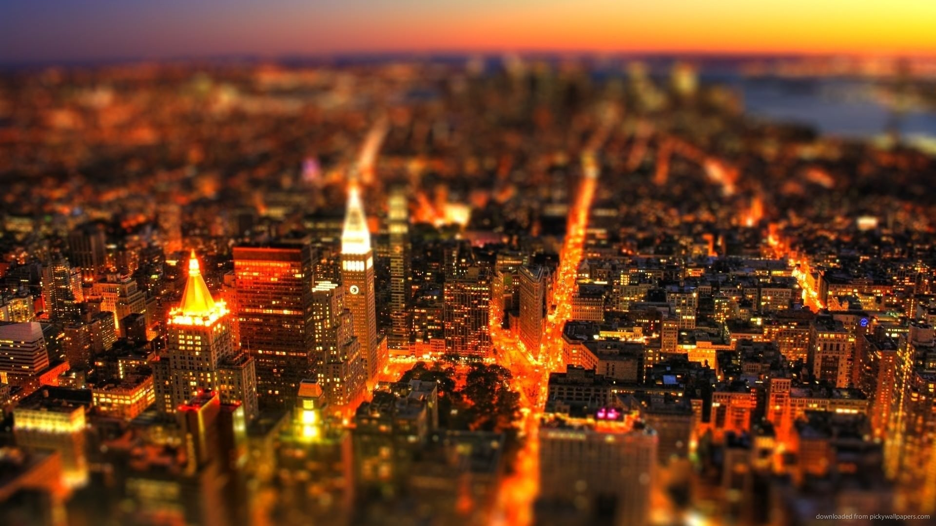 Tilt Shift Red Lava City Wallpaper
