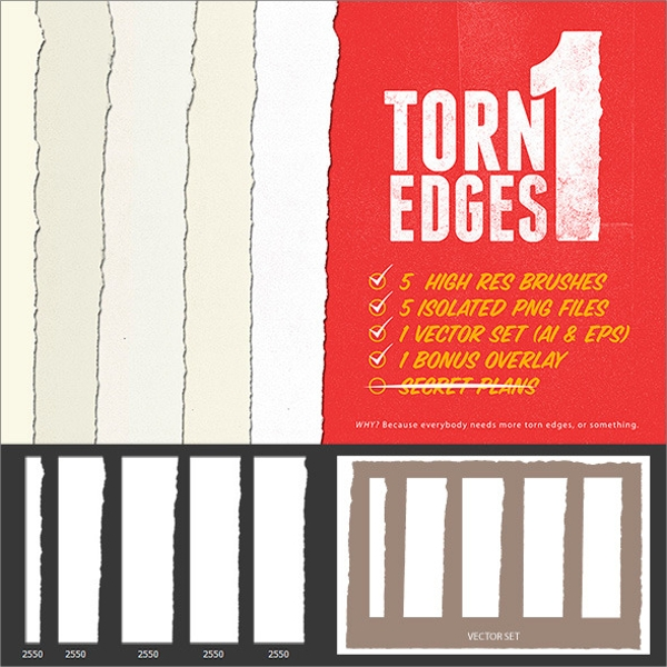 torn edge brushes