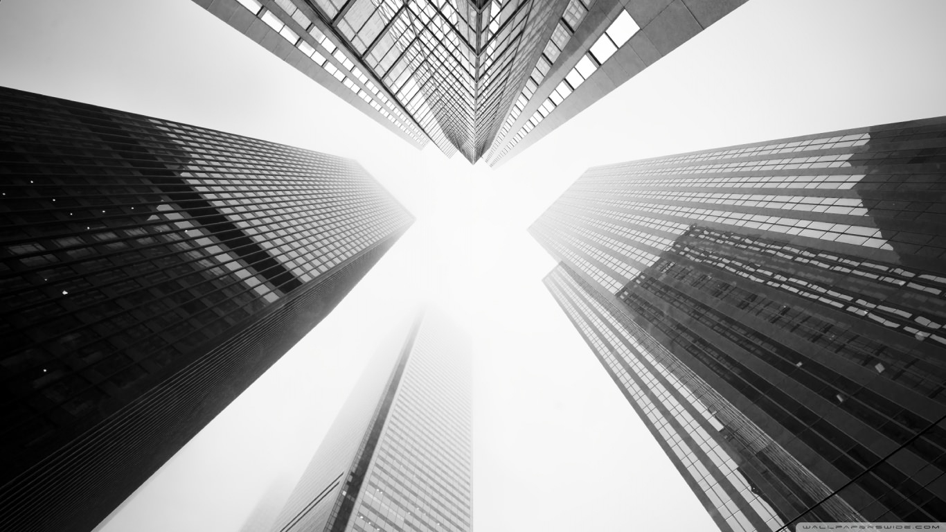 Toronto Skyscrapers Black & White Wallpaper