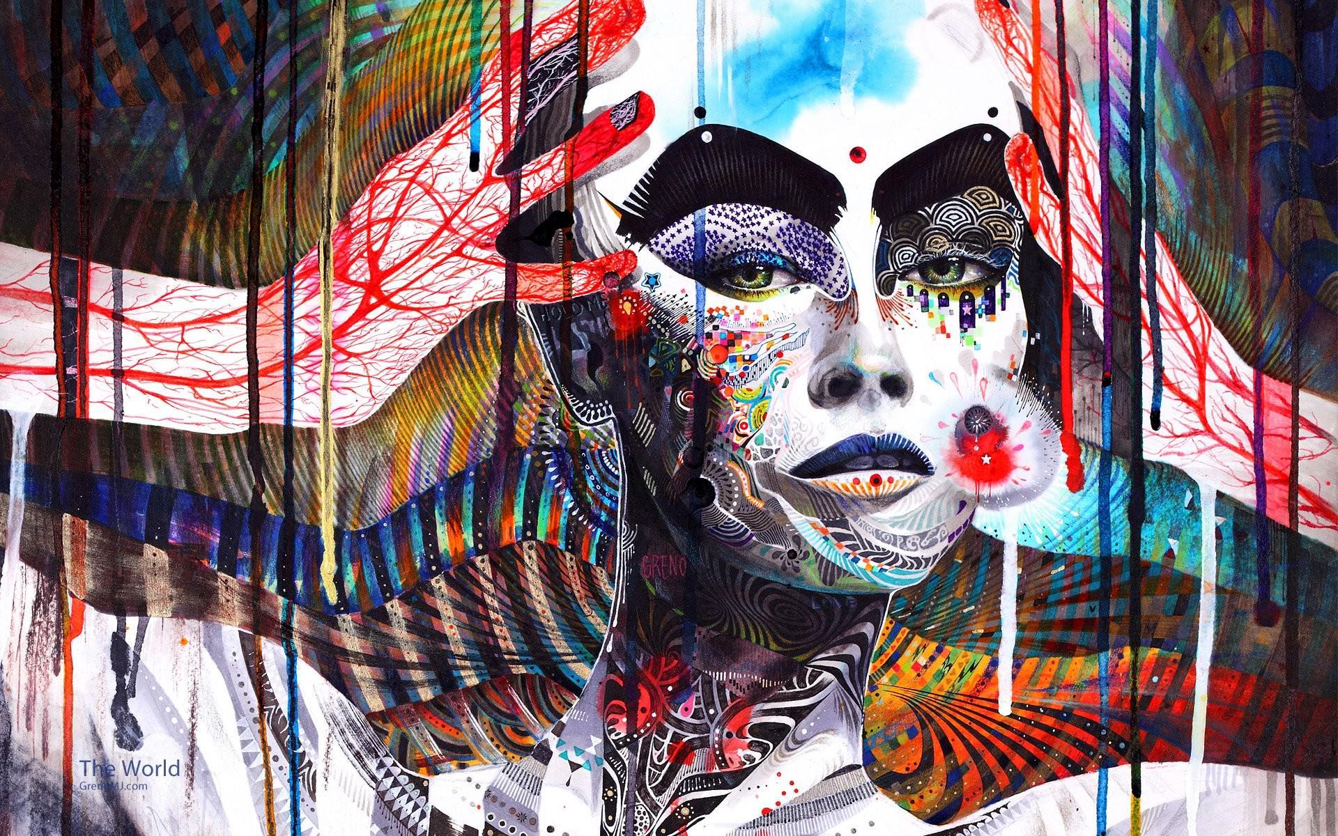 Trippy Illustration Wallpaper