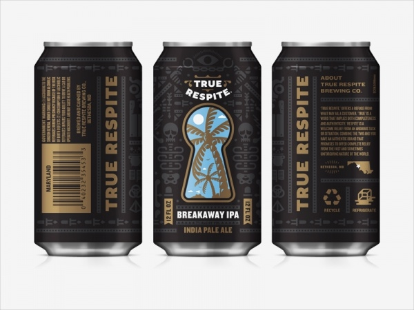 True Respite Brewing Can Packaging