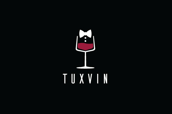 TuxVin Wine Logo For Free