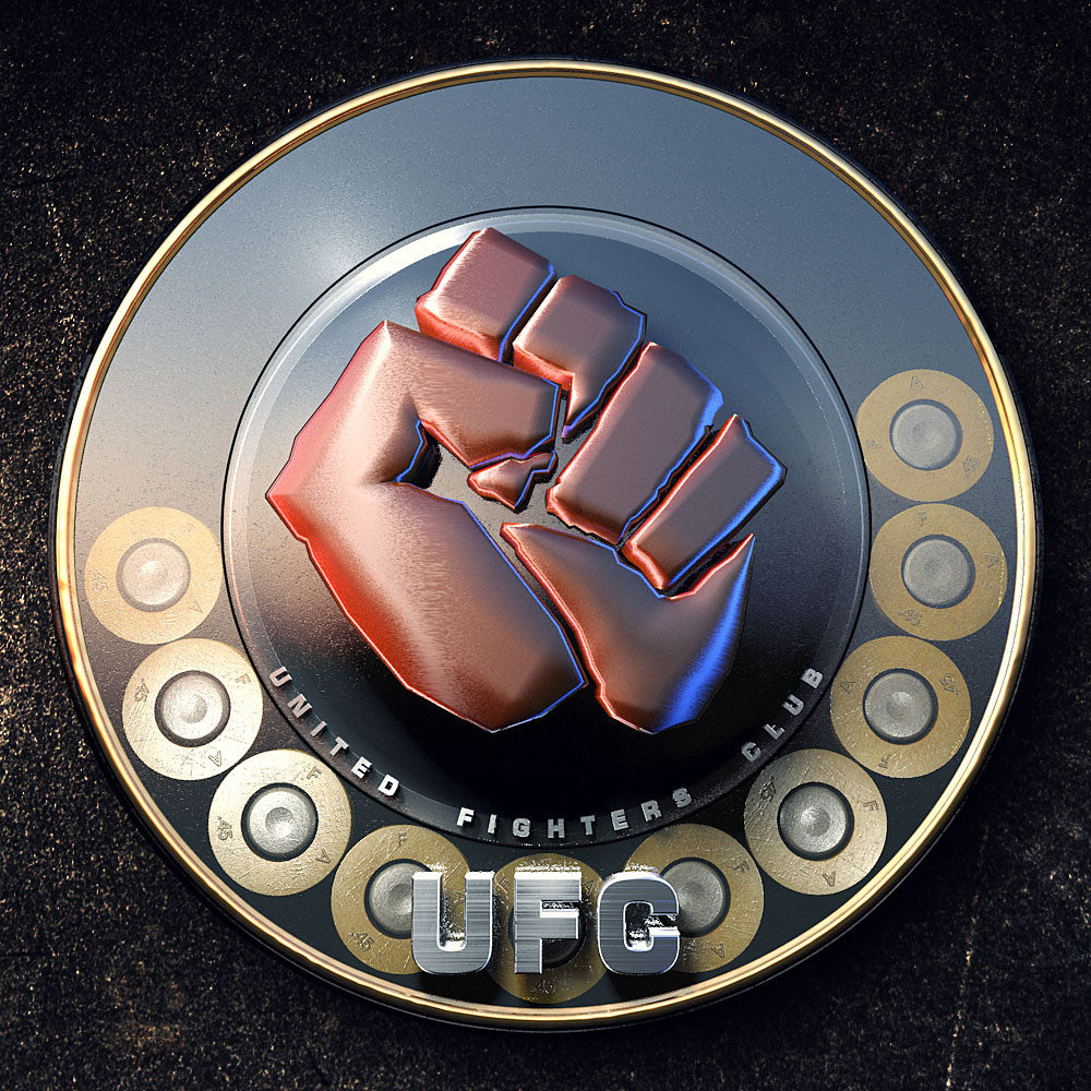 UFC Gaming Metal Logo Design