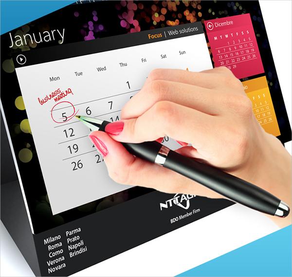 UI Style Business Desktop Calendar