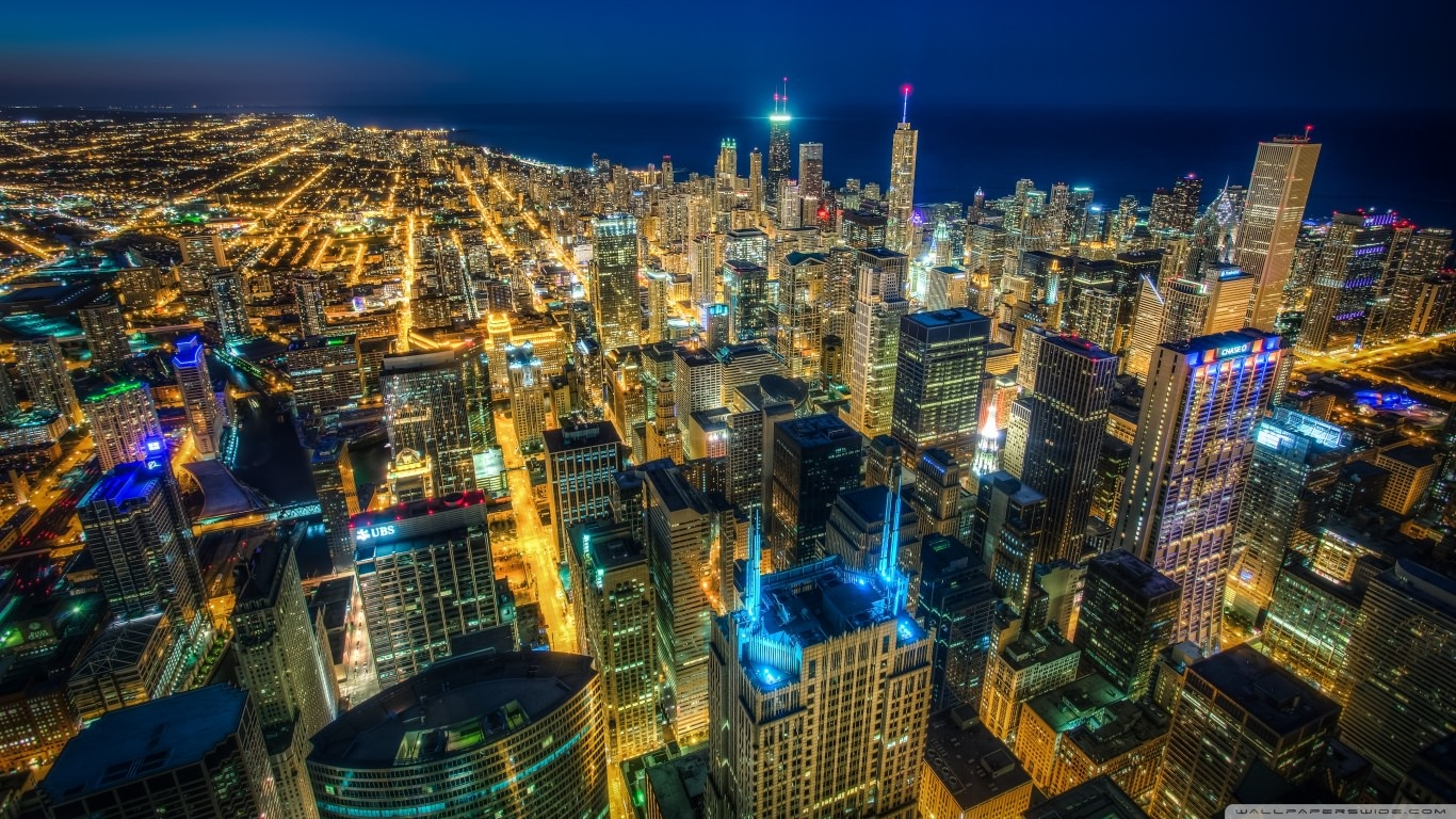 Ultra HD Chicago Skyscrapers Wallpaper