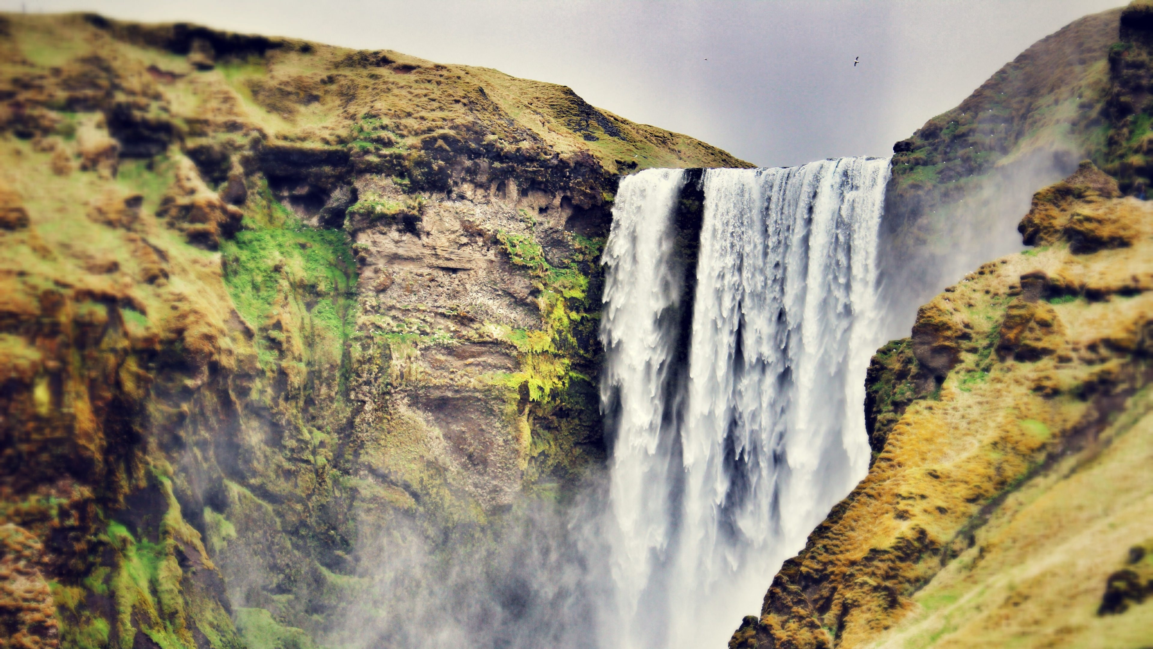Ultra HD Iceland Waterfall Wallpaper