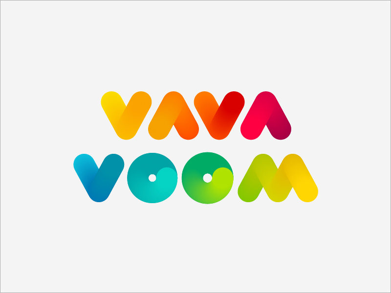 Vavavoom Rainbow Logo