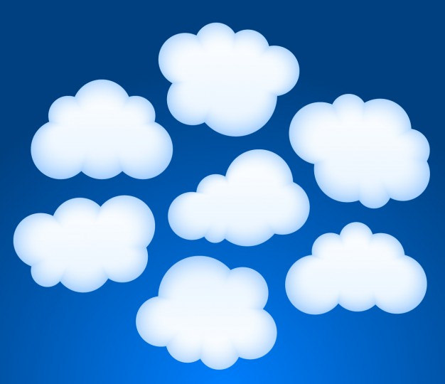 Vector Clouds Collection Free Vector