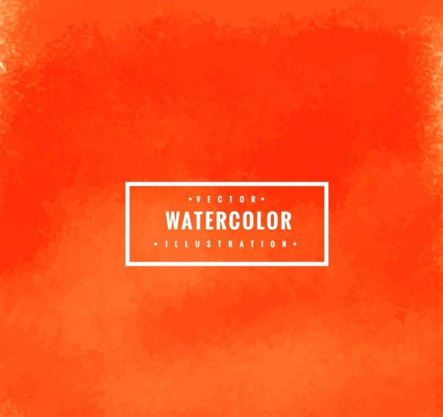 Vector Orange Watercolor Background for Illustrator