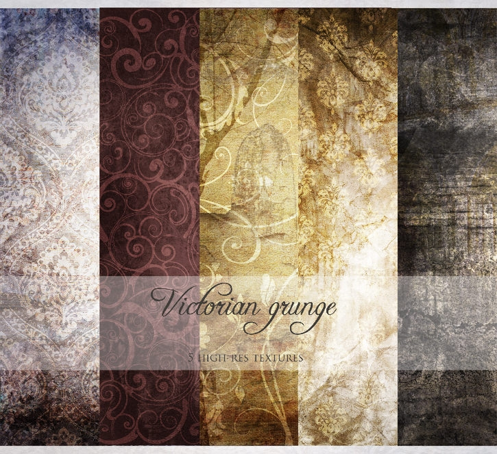 Victorian Grunge Background Textures Pack
