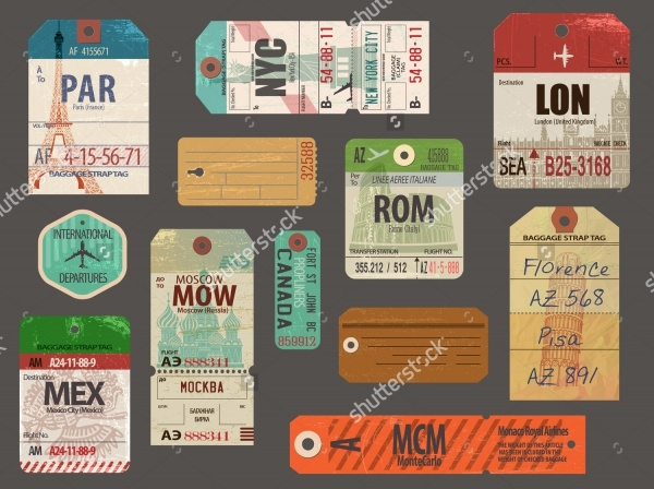 Vintage Baggage & Luggage Tags