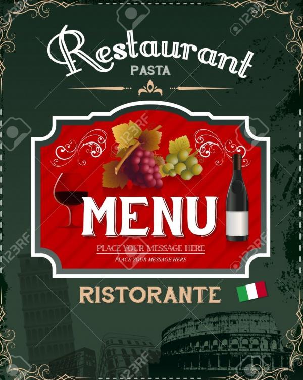 Vintage Italian Restaurant Menu Flyer