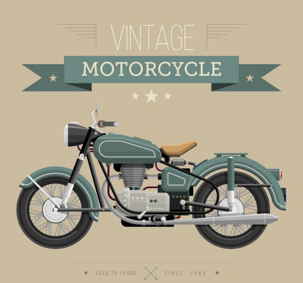 Vintage Motorcycle Free Vector Graphics