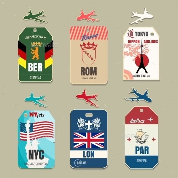 Vintage Vacation Luggage Tags