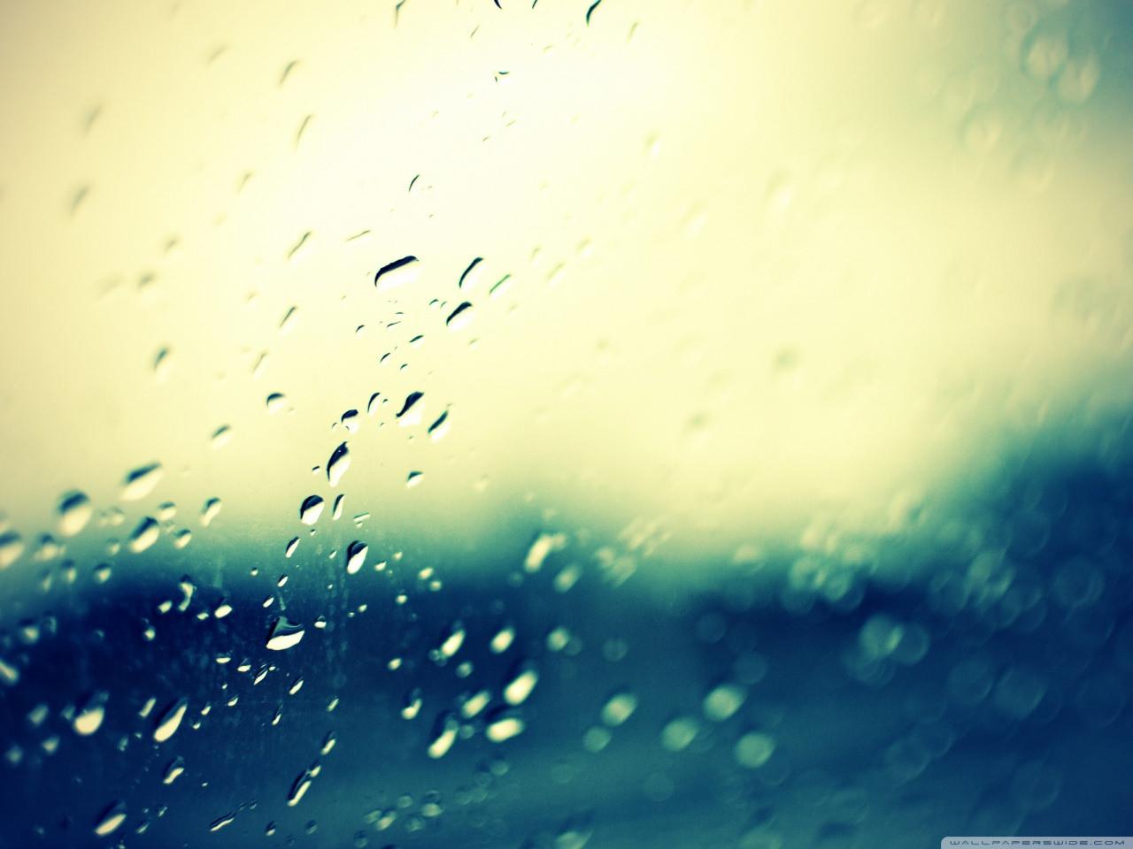 Water Drops Bokeh Wallpaper