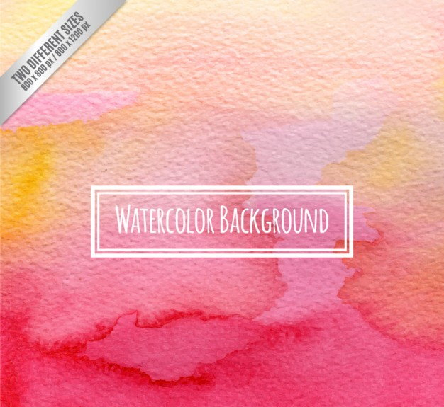 Watercolor Background in Pink and Orange Tones
