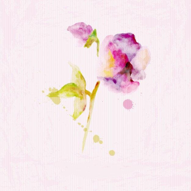 Watercolor floral paper texture