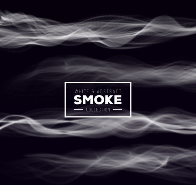 White Abstract Smoke Free Vector