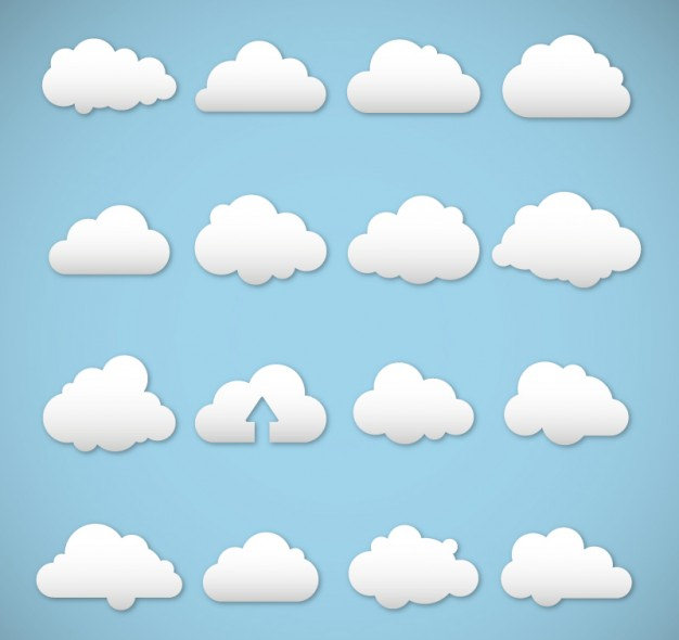 White Clouds Free Vector Download