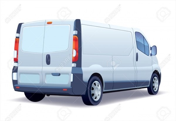 White Commercial Van Mock-up