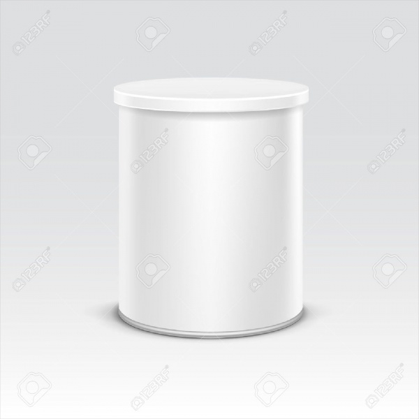 White Tin Box Packaging Container