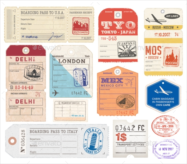 World Luggage Tags Design