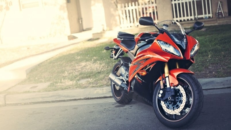 Yamaha R6 Orange Motorcycle Wallpaper