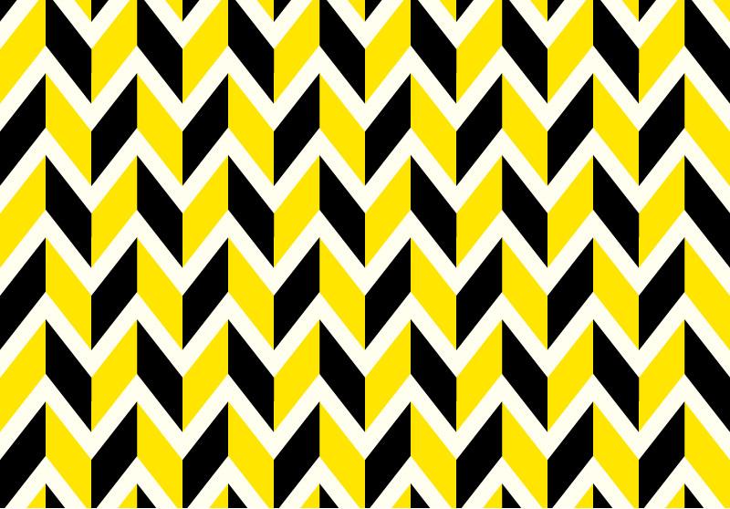 Yellow and Black Chevron Background