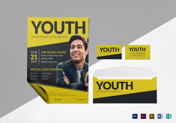 young leadership conference flyer template