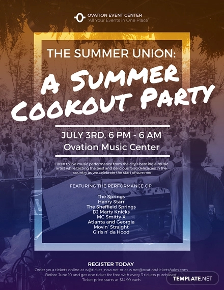 20  fabulous cookout flyer templates