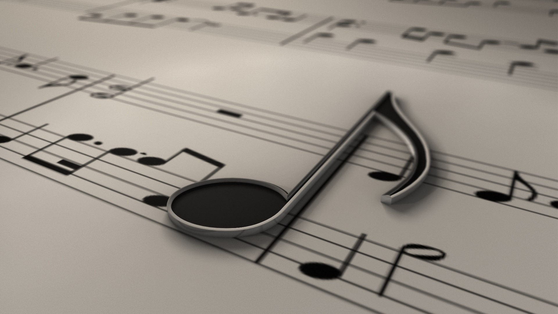 download HD Music Note Wallpaper